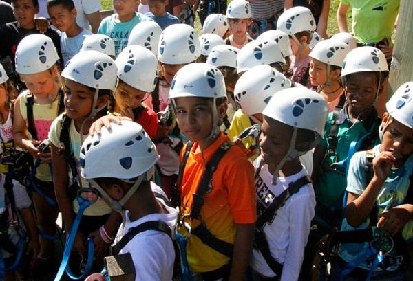 niños saharauis en el Forestal Park de Santander