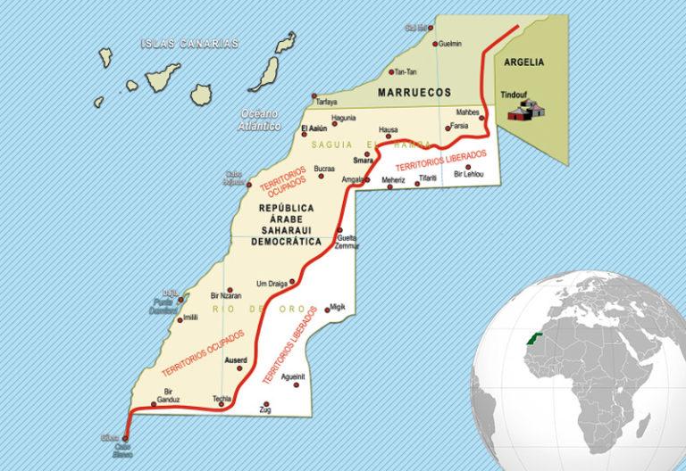 Mapa Sahara Occidental