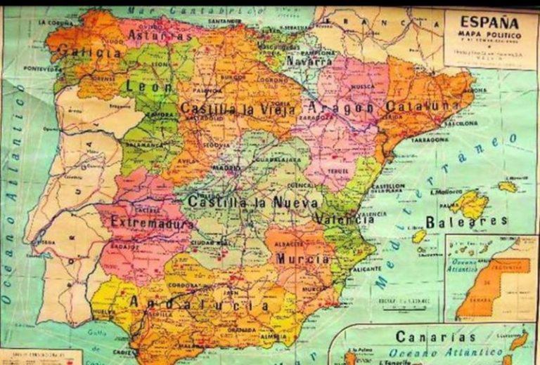 Mapa político de España de los 60